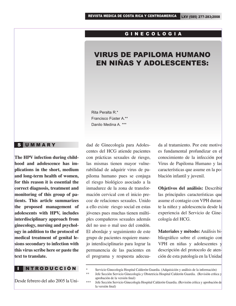 caracteristicas principales virus del papiloma humano