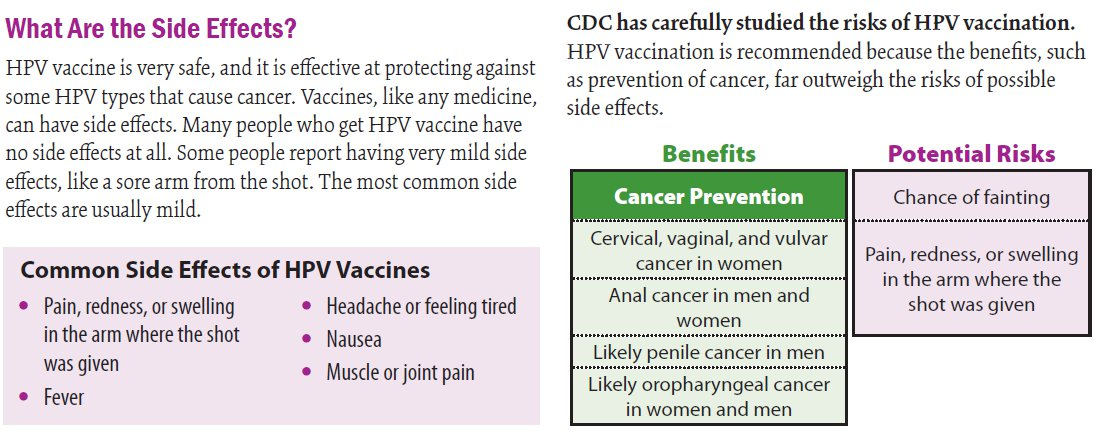 hpv vaccine side effects severe)