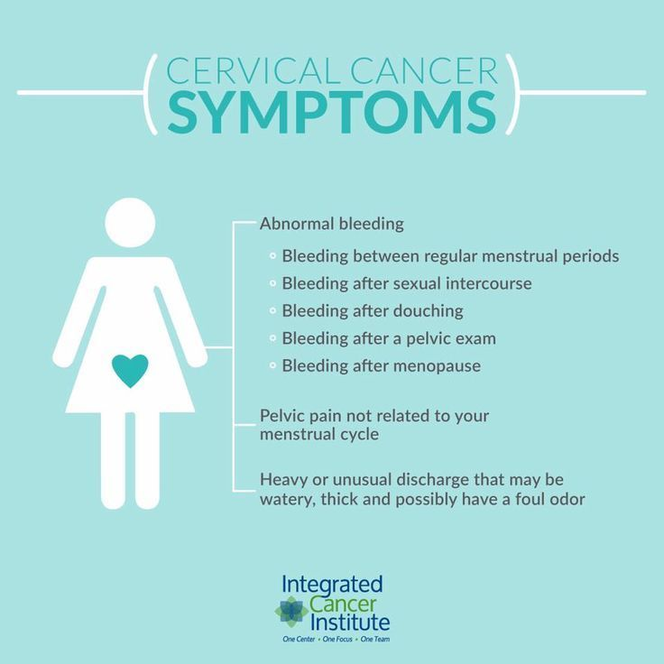 cervical cancer your symptoms)