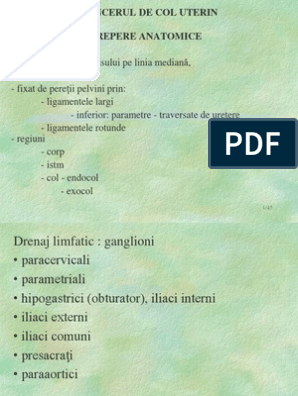 cancer de col uterin inoperabil