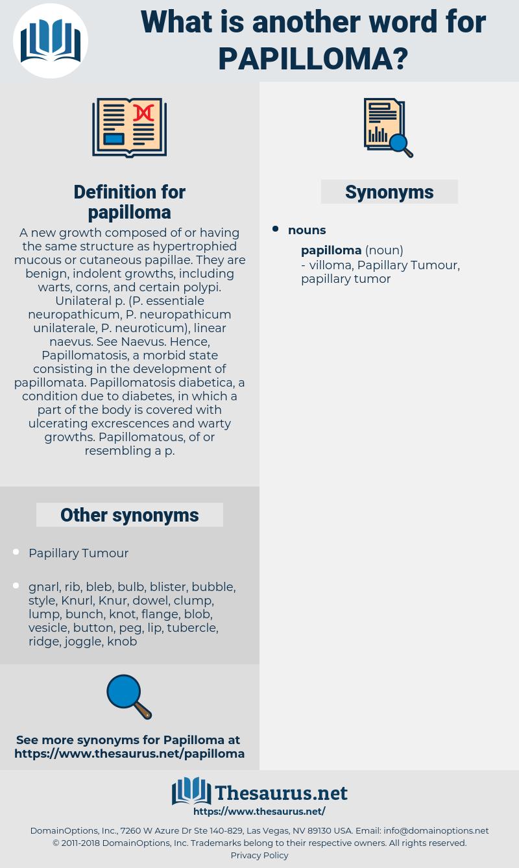 papillomatosis synonym)