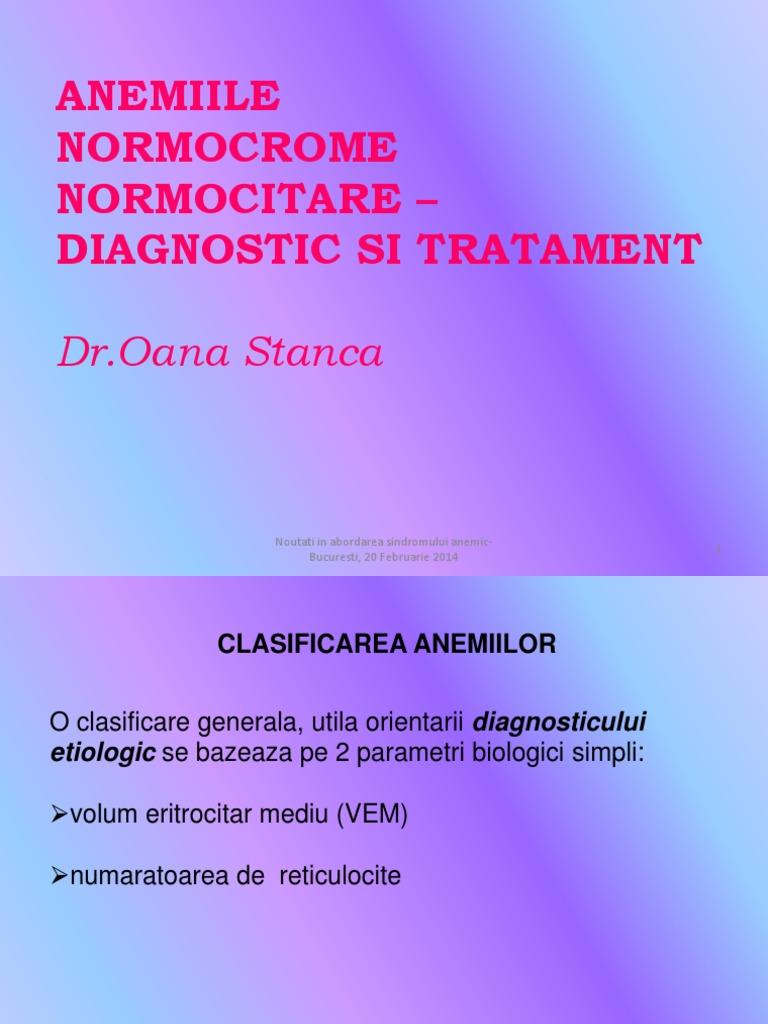 anemie diseritropoietica congenitala)