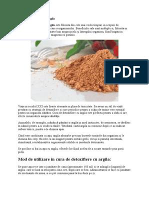 Detoxifierea organismului cu argila