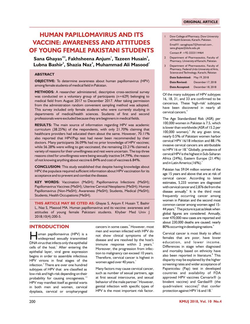 female human papillomavirus (hpv) vaccination global uptake and the impact of attitudes