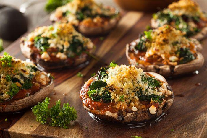 Ciuperci portobello rumenite la grătar