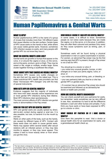 hpv no warts abnormal pap)
