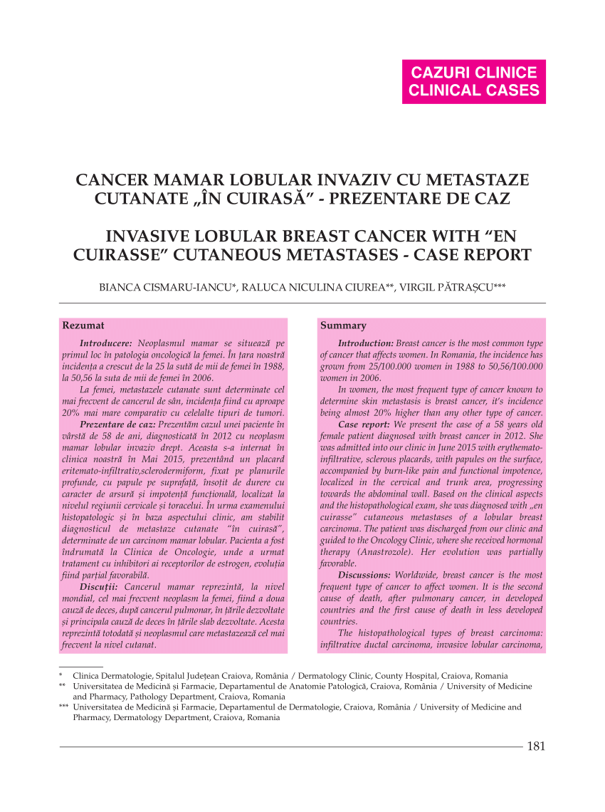 cancerul si metastaza)