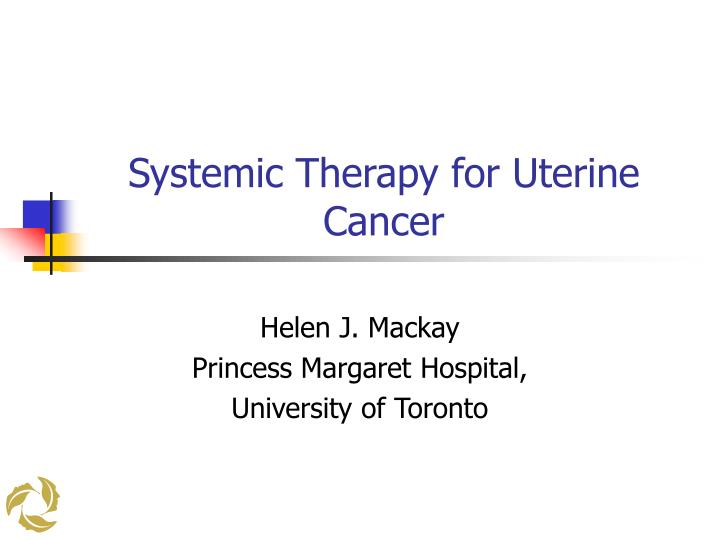 uterine cancer ppt