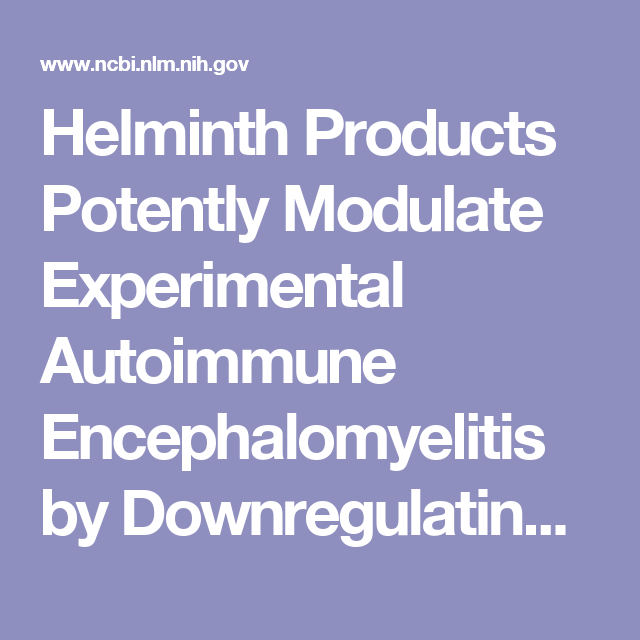 helminth therapy anxiety