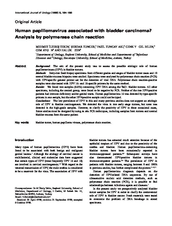 hpv and bladder toksiner i huden
