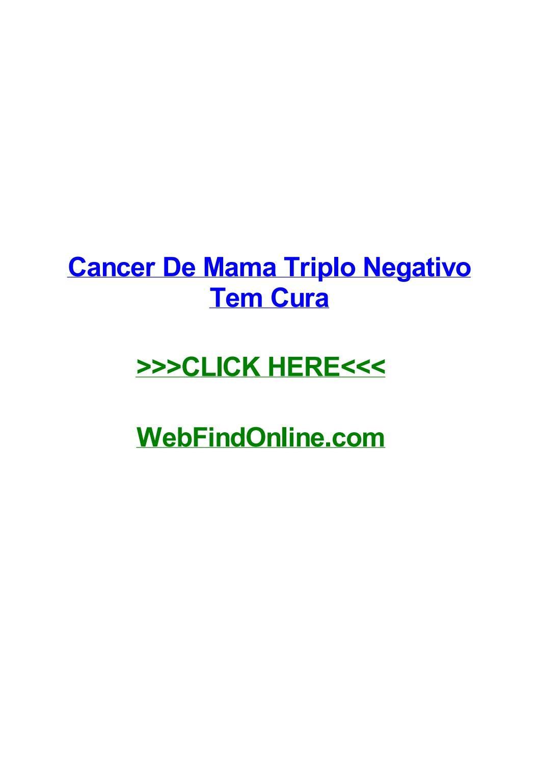Cancerul mamar triplu negativ