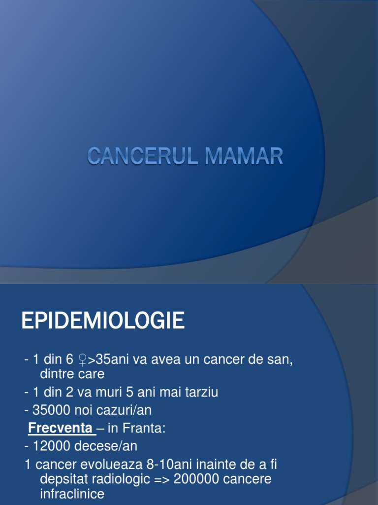 cancerul mamar ppt