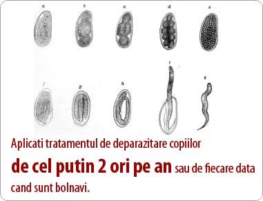 tratament paraziti intestinali la copii