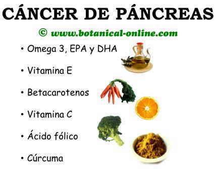 cancer pancreas que comer