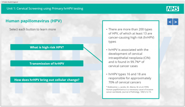 human papillomavirus (hpv) nhs