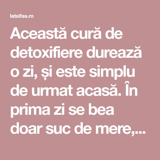 cura de detoxifiere cu ulei)