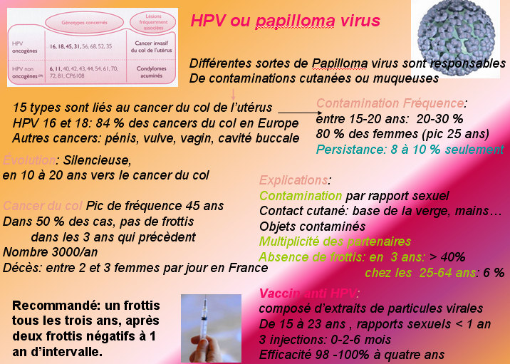 papillomavirus transmission chez lhomme)