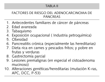 cancer de pancreas que lo causa