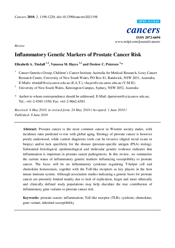 cancer genetic markers of susceptibility