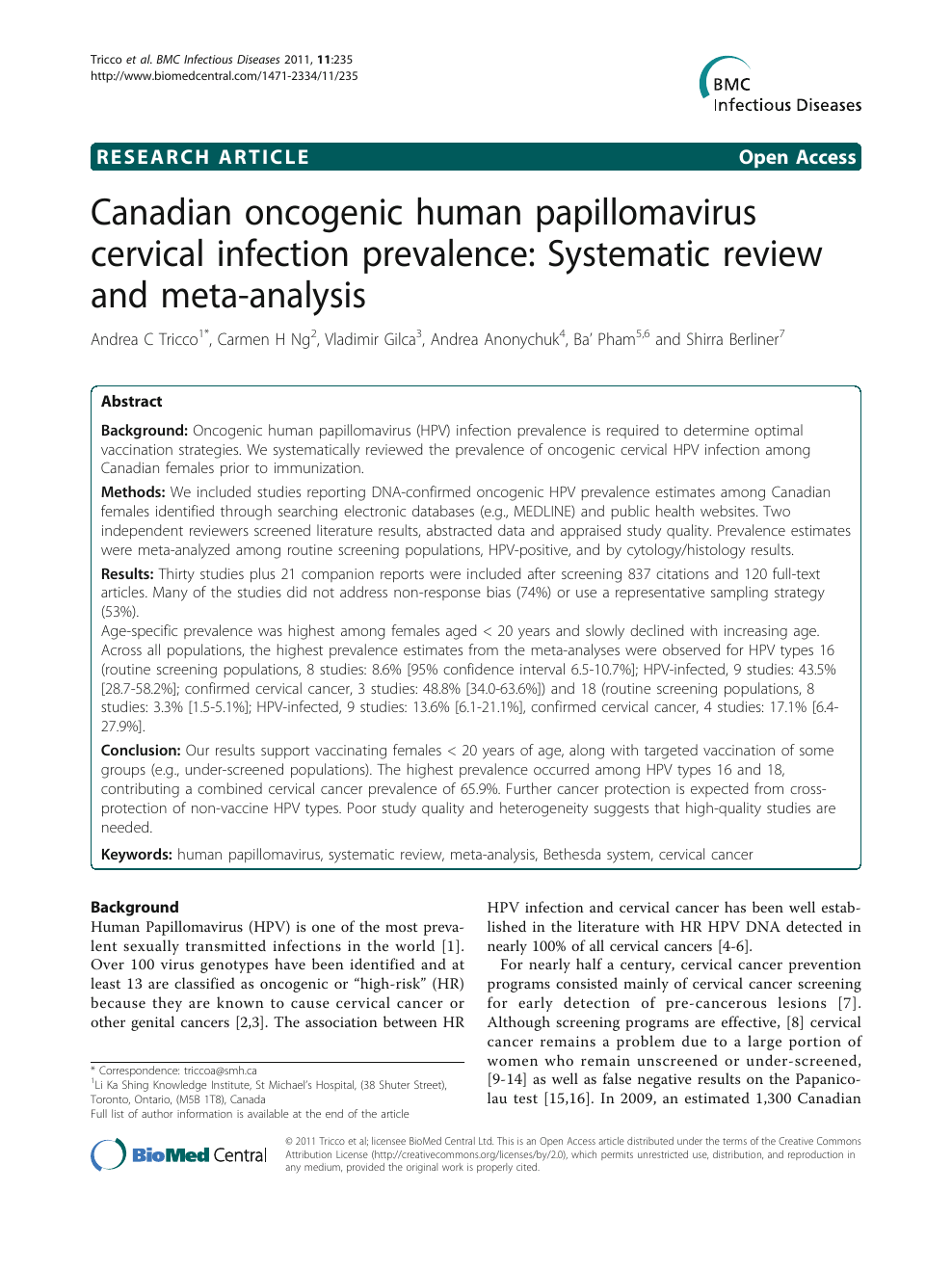 papillomaviruses a systematic review)