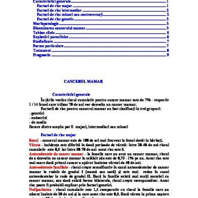 Cancerul Mamar - Tipuri • Tratament & Preventie | asspub.ro