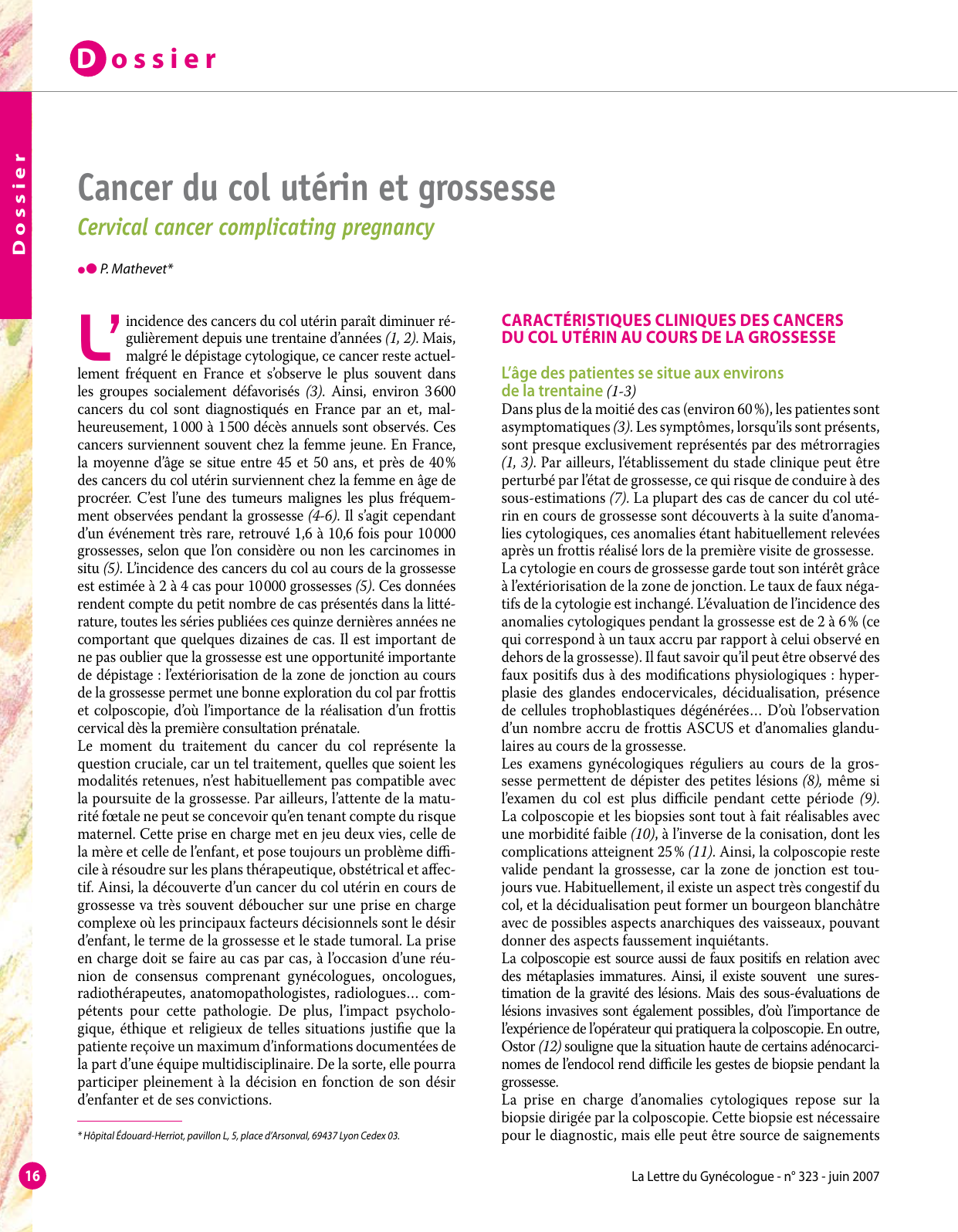cancer col uterin gravide)