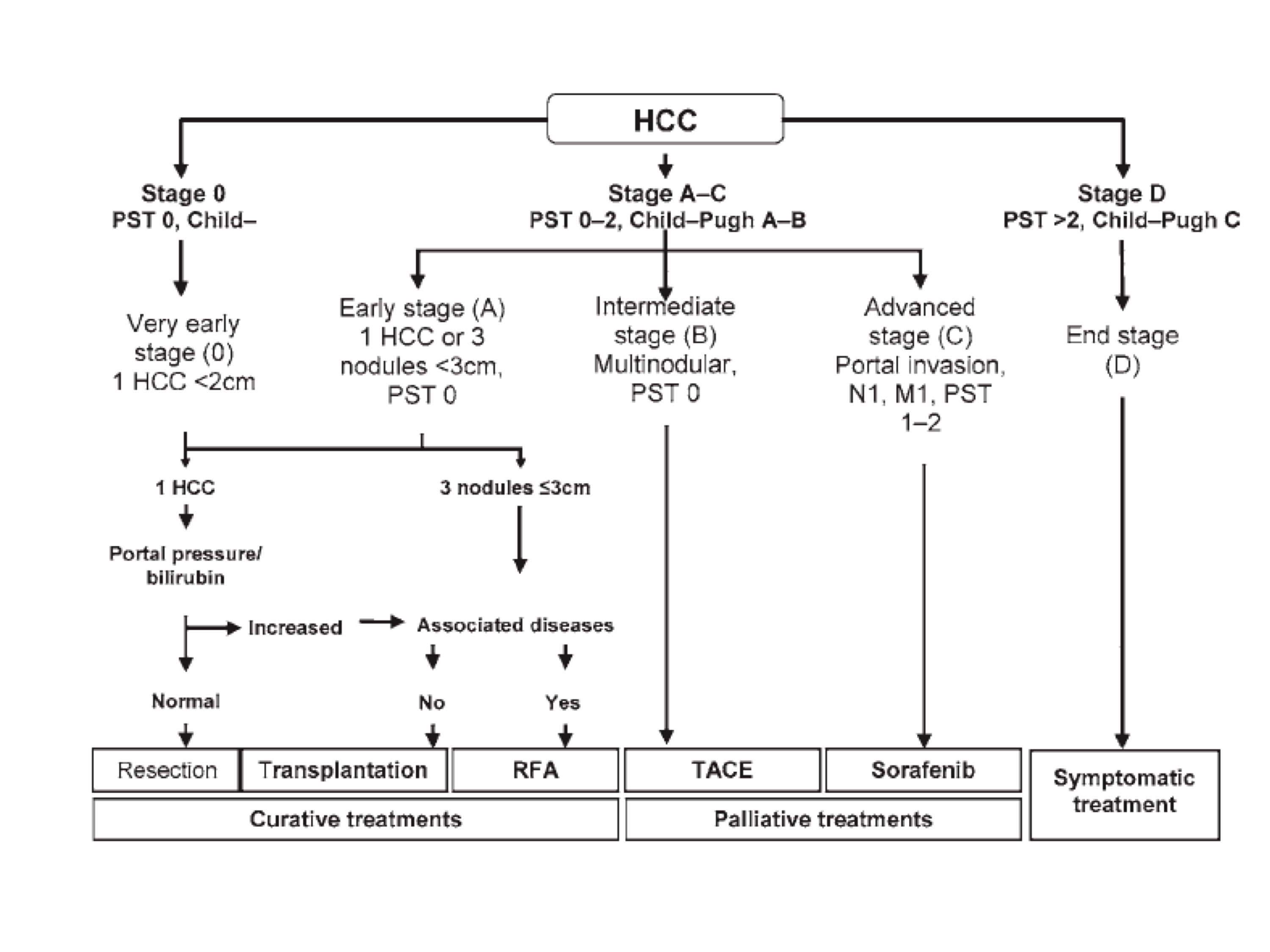 hepatocellular cancer treatment guidelines)