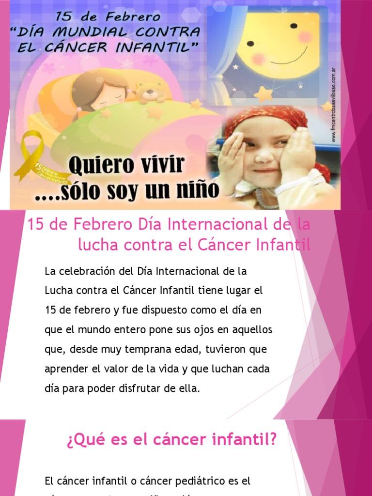 que es cancer infantil)