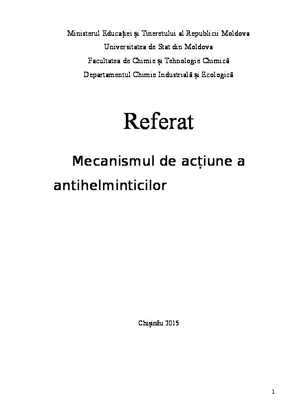 antihelmintice exemple)