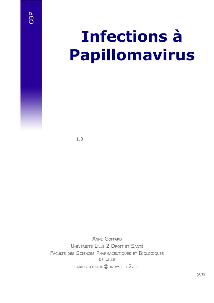 papillomavirus humain bilan biologique