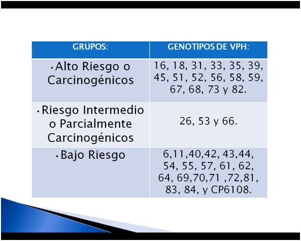 virus papiloma humano genotipo 45)