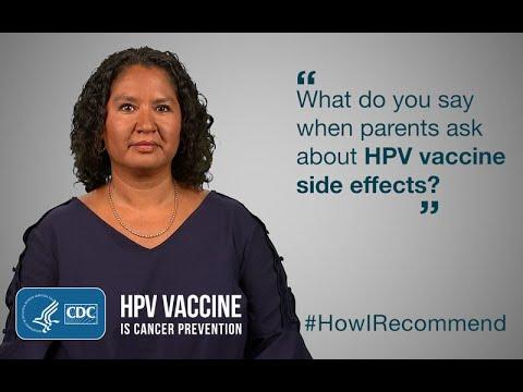 human papillomavirus side effects