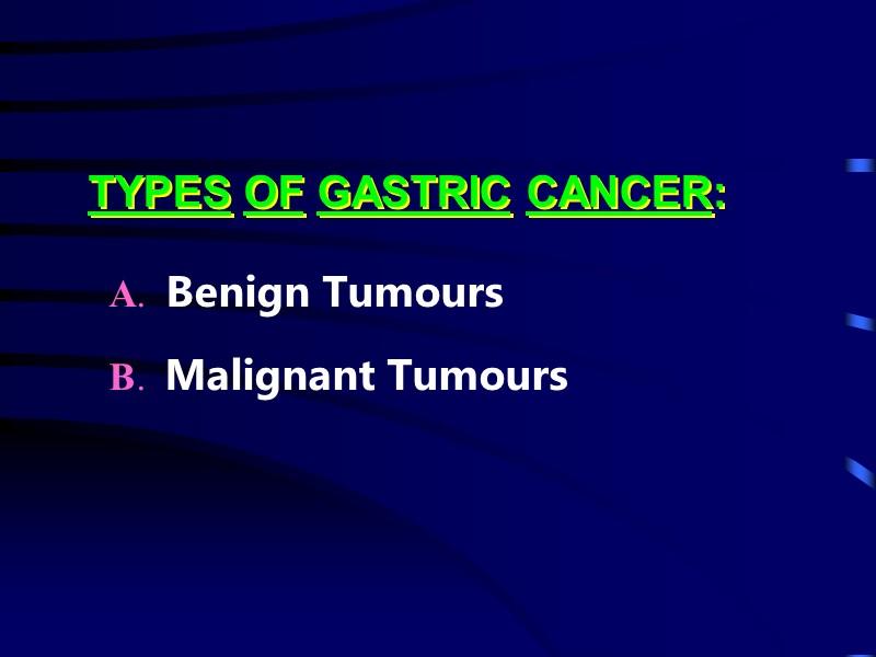 cancer gastric benign