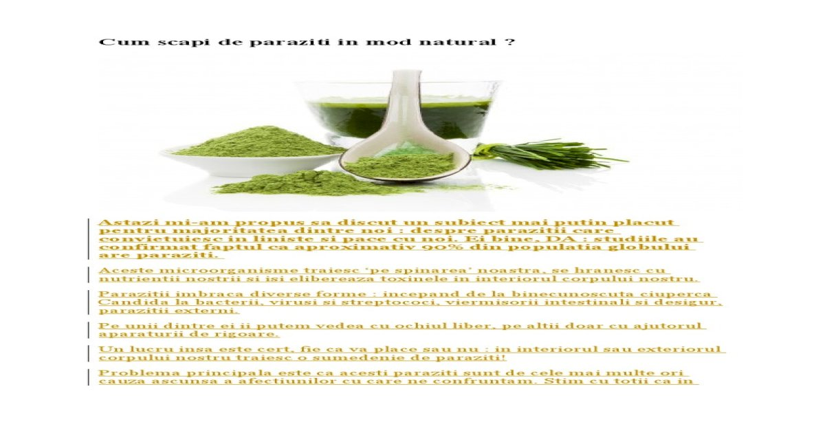 Paraziţii intestinali pot da complicaţii | asspub.ro