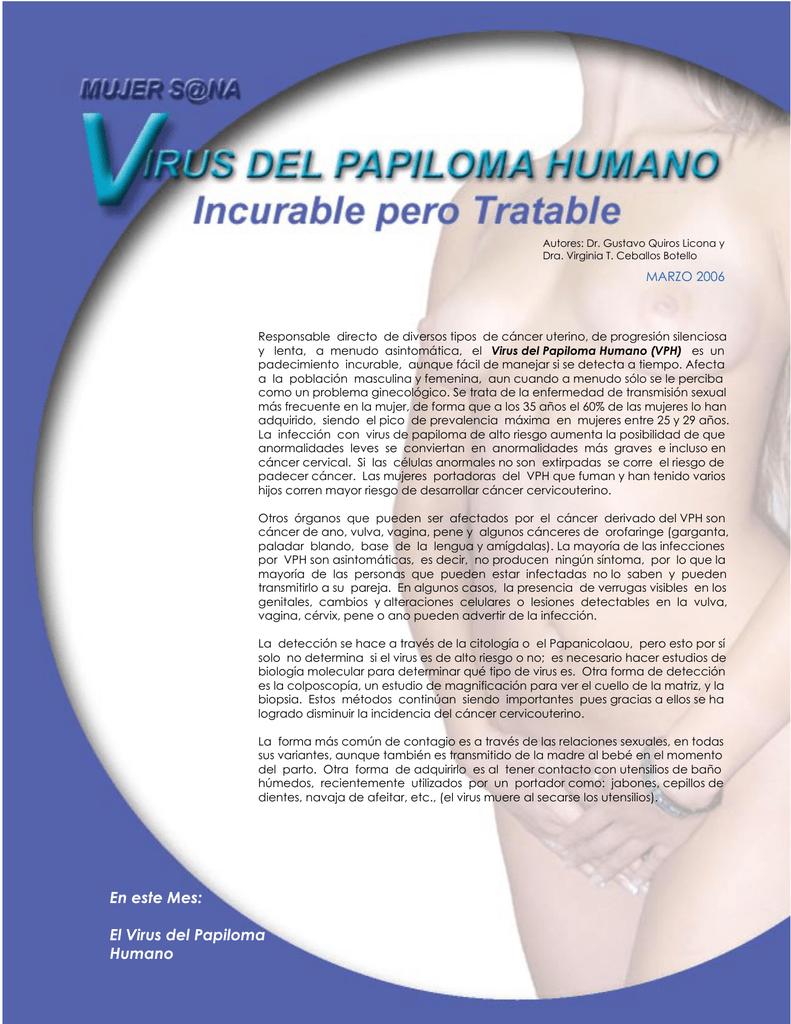virus papiloma humano formas de contagio