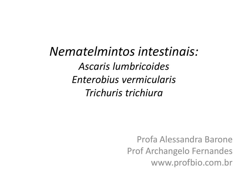 enterobius vermicularis habitat