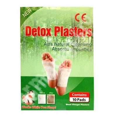 Plasturi detoxifianti pentru talpi, 10 bucati, Kiyome Kinok : Farmacia Tei