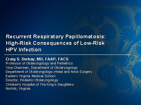 recurrent respiratory papillomatosis definition)