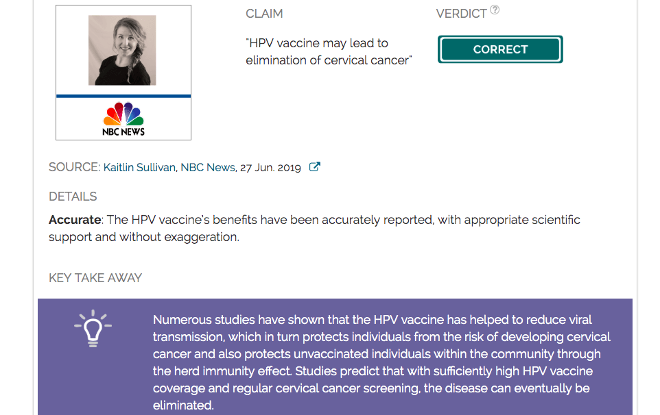 has hpv vaccine reduces cervical cancer