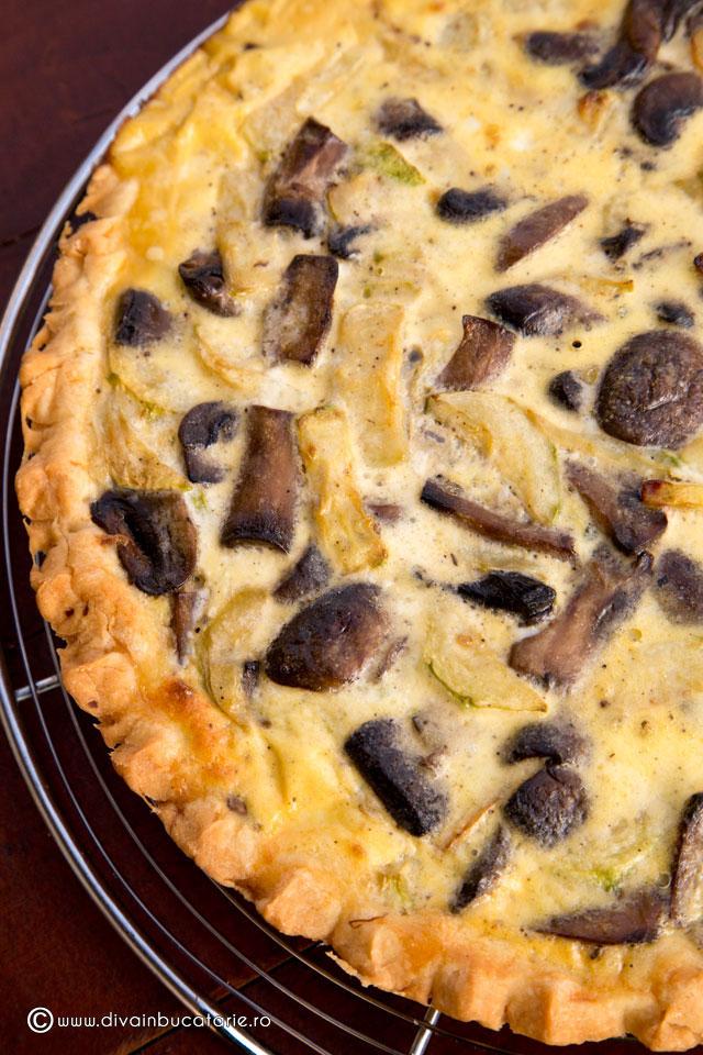 Quiche cu ciuperci - Retete culinare - Romanesti si din Bucataria internationala