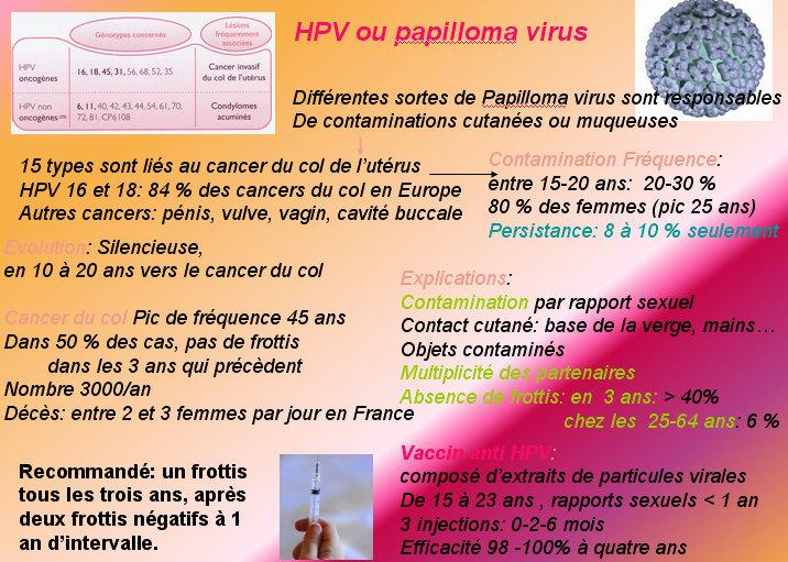 papillomavirus homme femme
