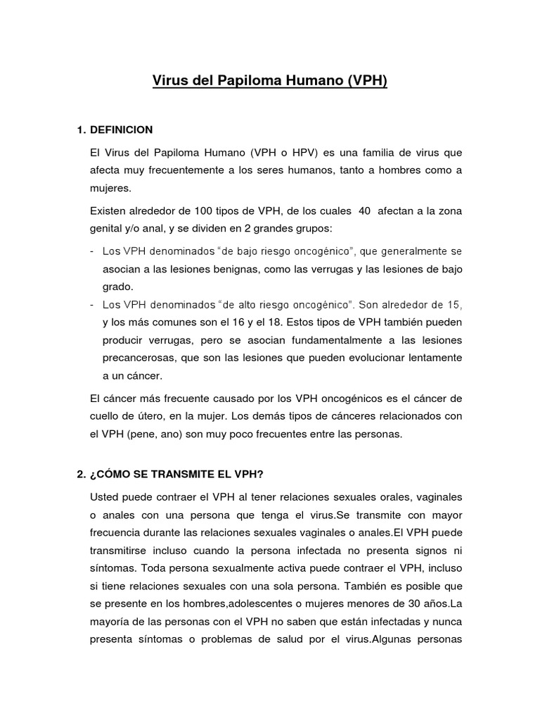 virus del papiloma humano definicion