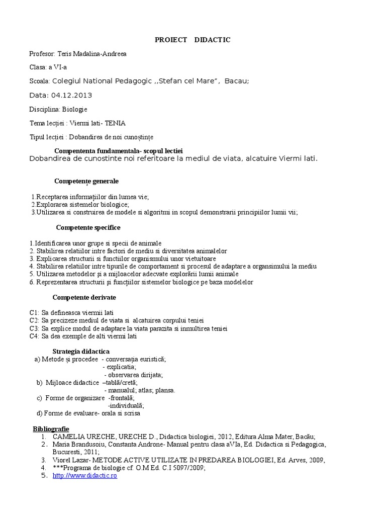 viermi biologie clasa 6)