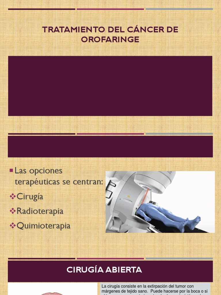 cancer de orofaringe tratamiento cancer bucal durata
