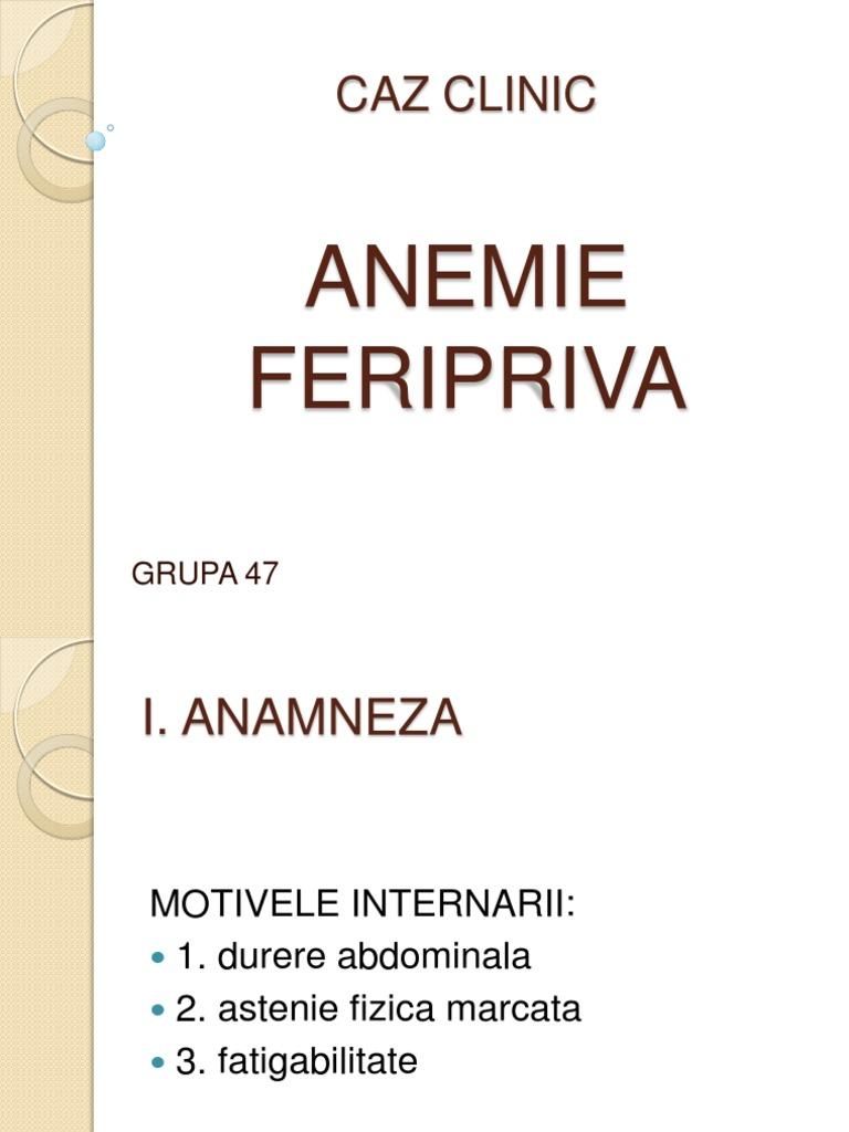 anemie hipocroma)