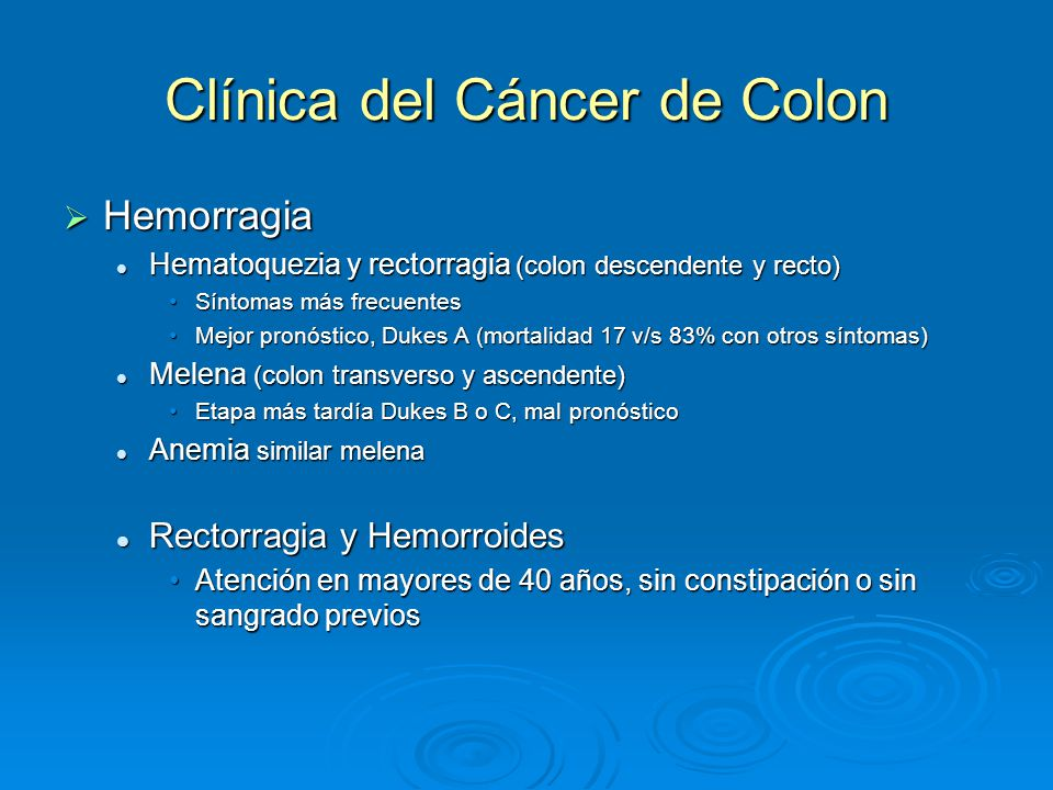 cancer de colon y anemia