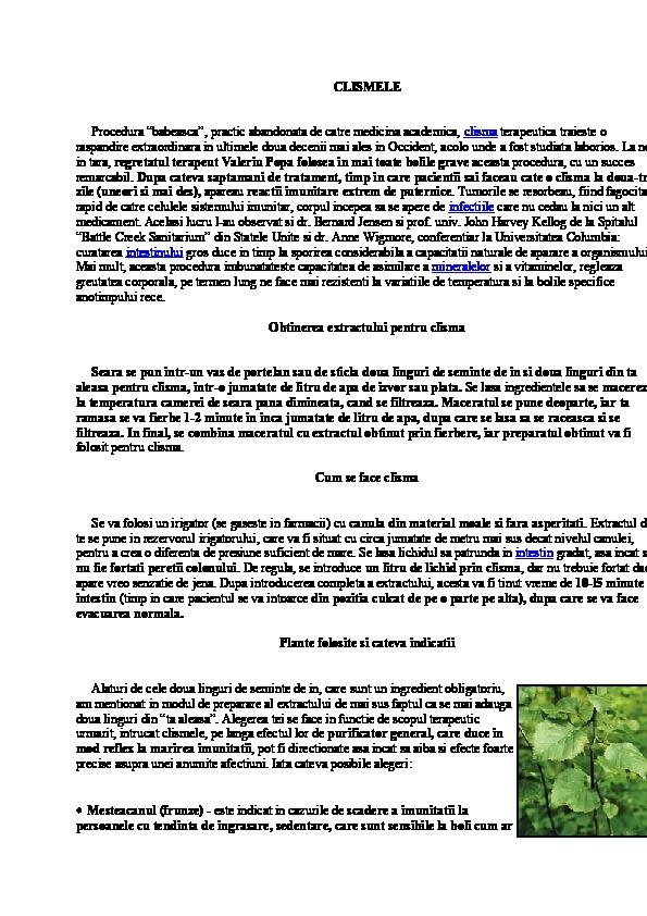 Apト・cu Sare 窶・Reネ嫺tト・Pentru Curトκ嫗rea Colonului ネ冓 Intestinelor | La Taifas