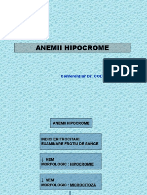 anemie moderata hipocroma hpv current research
