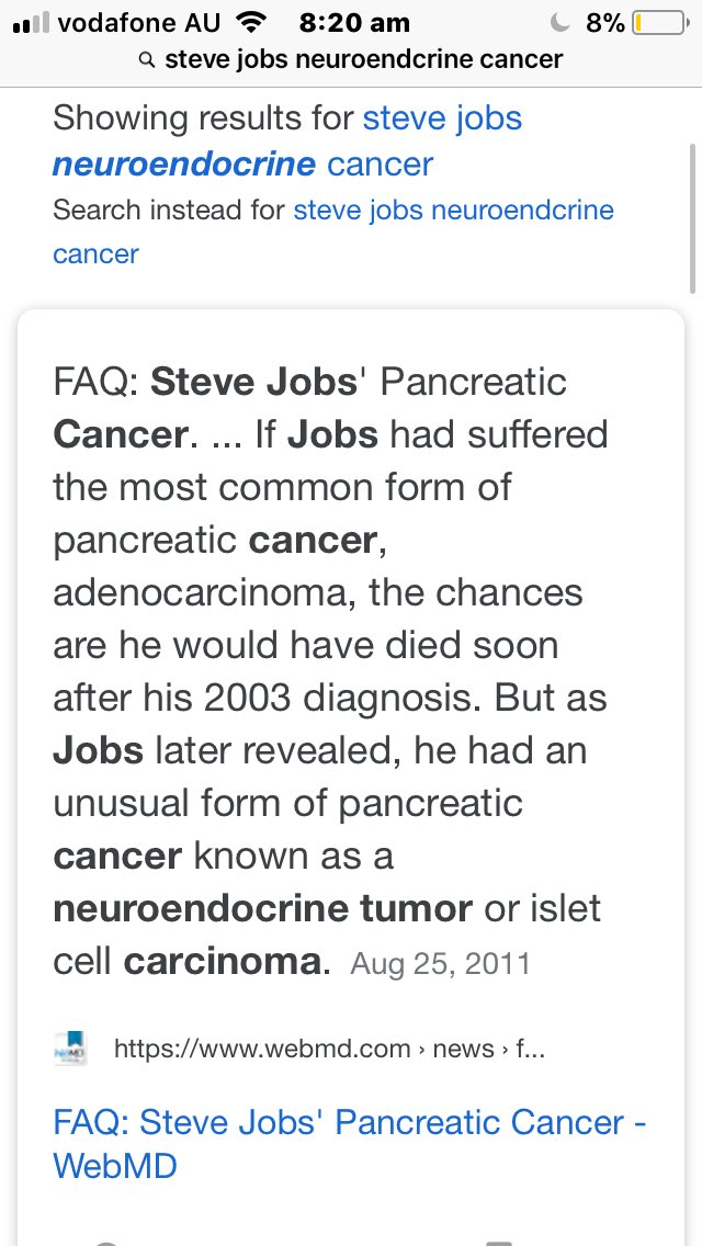 neuroendocrine cancer webmd)