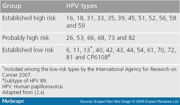 high risk type human papillomavirus e6 and e7 mrna detection)